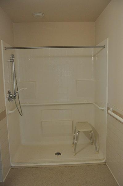 Margaret Wagner Apartments shower
